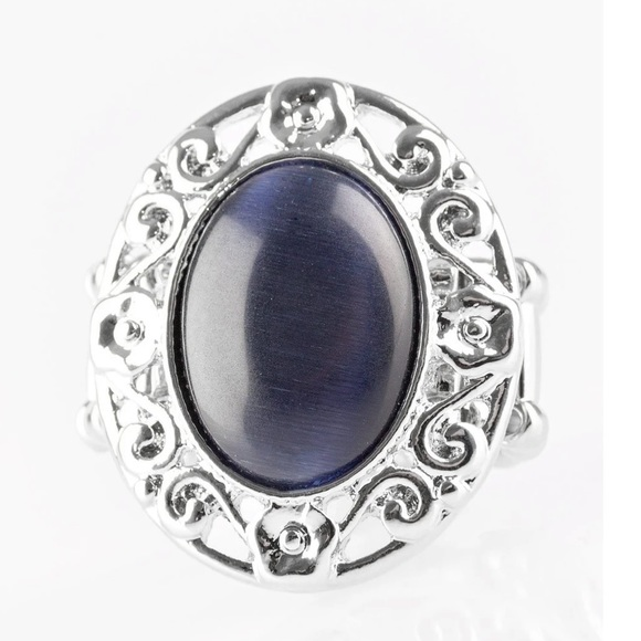 J80 Blue Moonstone stretchy ring